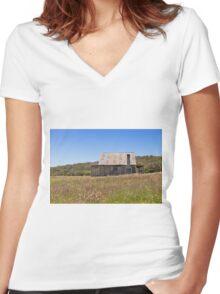 Coolamine Homestead, Kosciuszko NP Women's Fitted V-Neck T-Shirt