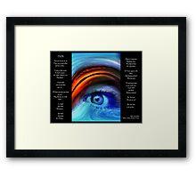I SEE YOU  Version 2         Bonita Moore IPA Framed Print