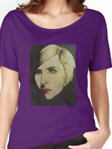 portrait of Blond Women's Relaxed Fit T-Shirt