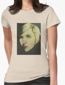 portrait of Blond Womens Fitted T-Shirt