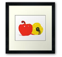 Peppers Graphic Framed Print