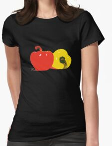Peppers Graphic Womens Fitted T-Shirt