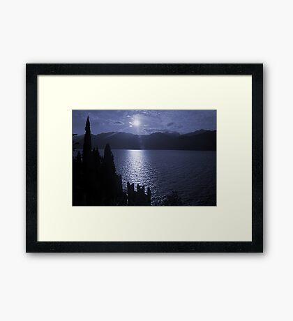 Lago di Garda, in blue Framed Print