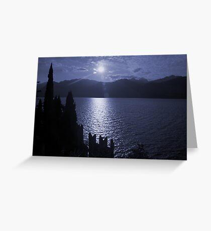 Lago di Garda, in blue Greeting Card