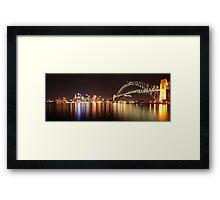 Sydney Harbour By Night Framed Print