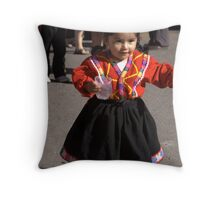 back to mom Throw Pillow