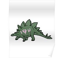 Heart Dino Poster