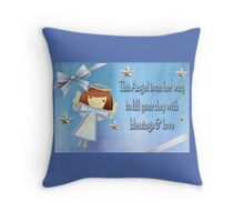 An Angel  Throw Pillow