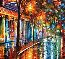 Night Cafe — Buy Now Link - www.etsy.com/listing/217221576 by Leonid  Afremov