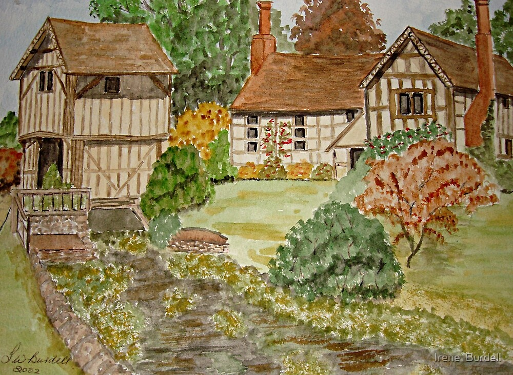 Watercolour .  Lower Brockhampton. by Irene  Burdell