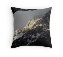 shuttered sunset Throw Pillow