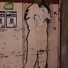 Amputated stencil man by Cyana