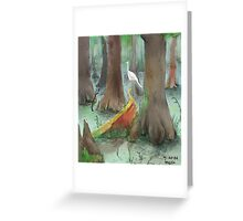 Moon at Noon  Greeting Card