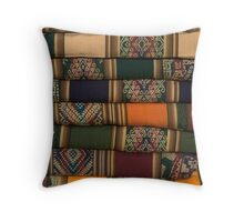 lines of colours Throw Pillow
