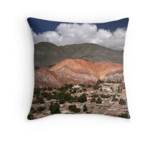 the hill of seven colours Throw Pillow