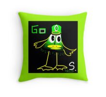 Collectable! GO DUCKS abstract, funny but not, really sorry prints Throw Pillow