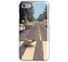 Why did the chicken cross THE road? iPhone Case/Skin