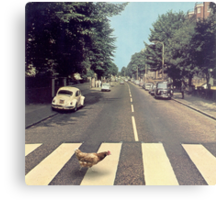 Why did the chicken cross THE road? Metal Print