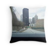 Bigelow Blvd. into downtown Pittsburgh Throw Pillow