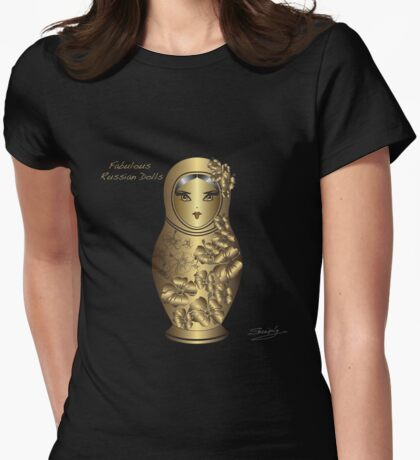 Fabulous Russian Dolls Womens Fitted T-Shirt