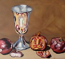 Silver Chalice with Fruit & Vege...Still Life by Julie Hollis