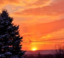 Sunset After the Snowstorm by Kathleen Daley