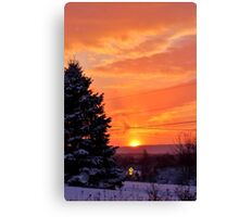 Sunset After the Snowstorm Canvas Print