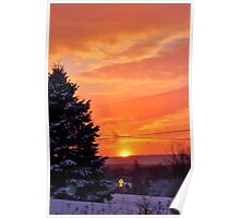 Sunset After the Snowstorm Poster