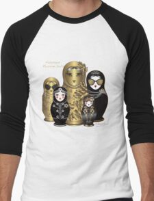 Fabulous Russian Dolls Men's Baseball ¾ T-Shirt