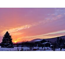Sunset After the Snowstorm II Photographic Print
