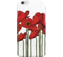 Poppies white iPhone Case/Skin