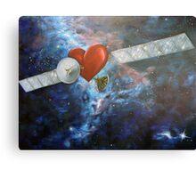 Satellite Heart Canvas Print