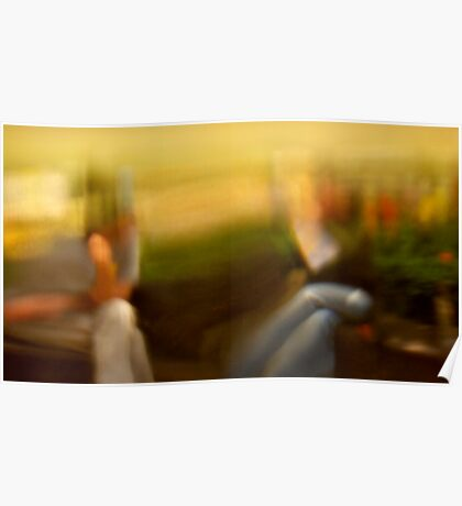 Two Women Abstract Poster