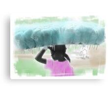 woman selling cotton candy Metal Print