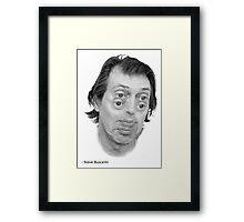 Steve Buscemi Eyes Framed Print