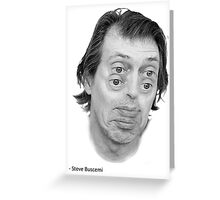 Steve Buscemi Eyes Greeting Card