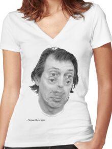 Steve Buscemi Eyes Women's Fitted V-Neck T-Shirt