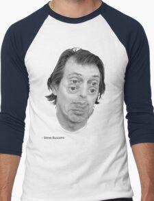 Steve Buscemi Eyes Men's Baseball ¾ T-Shirt