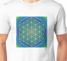 Flower of Life- Ocean Colours Unisex T-Shirt