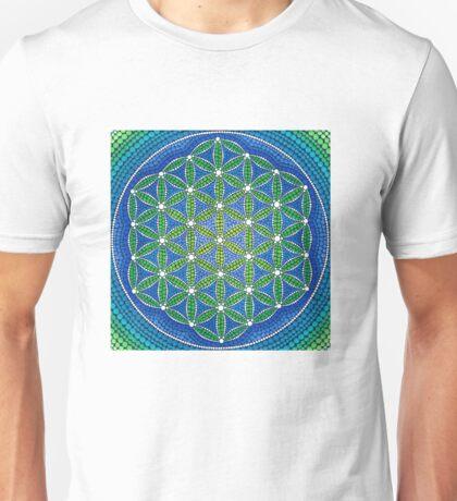 Flower of Life- Ocean Colours Unisex T-Shirt