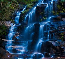 Sylvia Falls, Blue Mountains by Erik Schlogl