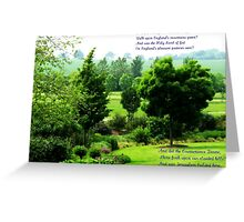 England's Green and Pleasant Land - Ortonish Vignette Greeting Card