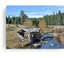 Old Water Wheel Shed  Canvas Print