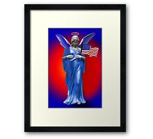 ✌ SAFE BENEATH THE WINGS OF AN ANGEL PICTURE/CARD TRIBUTE TO U.S.A.✌ Framed Print