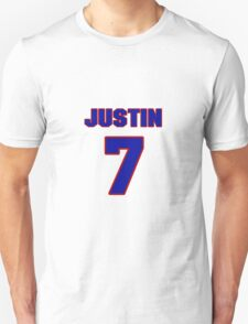 Basketball player Justin Dentmon jersey 7 T-Shirt