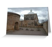 Mission Graveyard Greeting Card