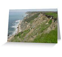 Block Island Cliff Greeting Card
