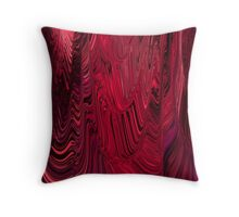 Flowing Maroon Burgandy Red Ripple Abstract Throw Pillow