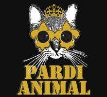 Black and Gold Pardi Animal Kids Tee