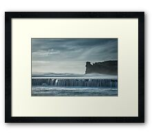 Spray Point Unveiling Framed Print